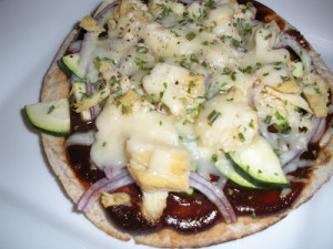 What's For Dinner?  BBQ Chicken Pita Pizzas