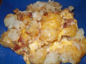 Recipe Review – Cheesy Chicken, Bacon & Tater Tot Crock Pot Bake