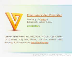 Part 2 – Using Freemake to Import Media