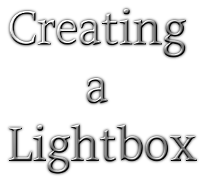 Creating a Lightbox
