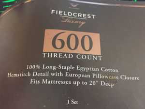Review – Fieldcrest Luxury Sheets