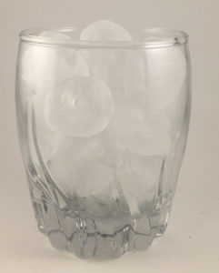 small glass of ice